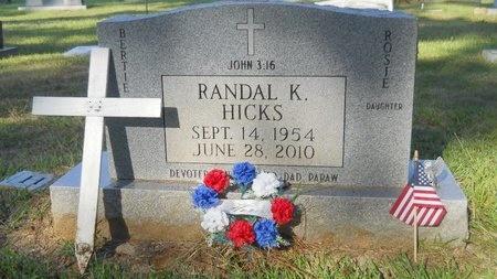 HICKS, RANDAL KEITH - Webster County, Louisiana | RANDAL KEITH HICKS - Louisiana Gravestone Photos
