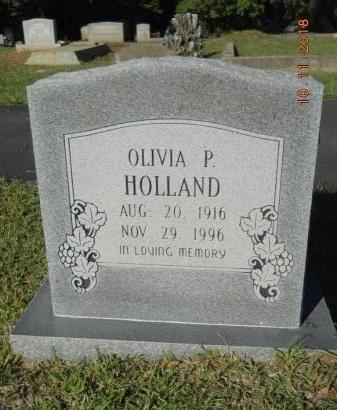 HOLLAND, OLIVIA P - Webster County, Louisiana | OLIVIA P HOLLAND - Louisiana Gravestone Photos