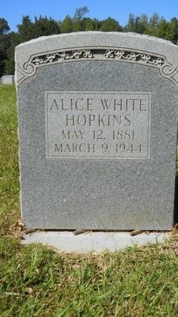 WHITE HOPKINS, ALICE - Webster County, Louisiana | ALICE WHITE HOPKINS - Louisiana Gravestone Photos