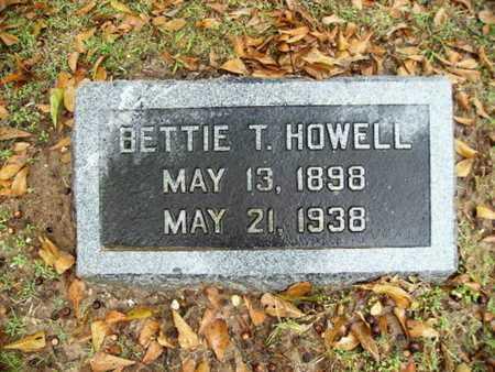 HOWELL, BETTIE T - Webster County, Louisiana | BETTIE T HOWELL - Louisiana Gravestone Photos