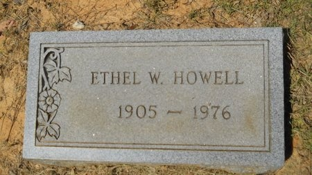 HOWELL, ETHEL W - Webster County, Louisiana | ETHEL W HOWELL - Louisiana Gravestone Photos