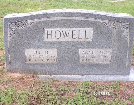 HOWELL, LEE DISMUKES - Webster County, Louisiana | LEE DISMUKES HOWELL - Louisiana Gravestone Photos
