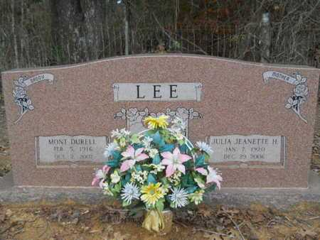 LEE, JULIA JEANETTE - Webster County, Louisiana | JULIA JEANETTE LEE - Louisiana Gravestone Photos