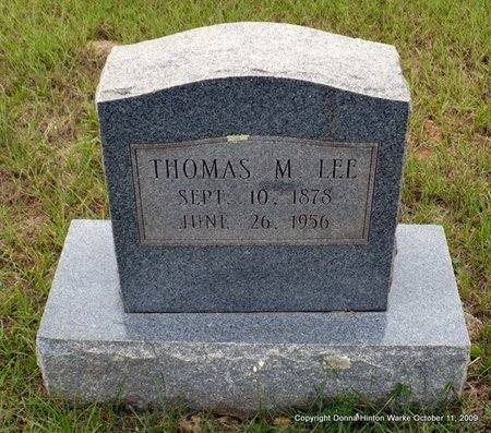 LEE, THOMAS M - Webster County, Louisiana | THOMAS M LEE - Louisiana Gravestone Photos