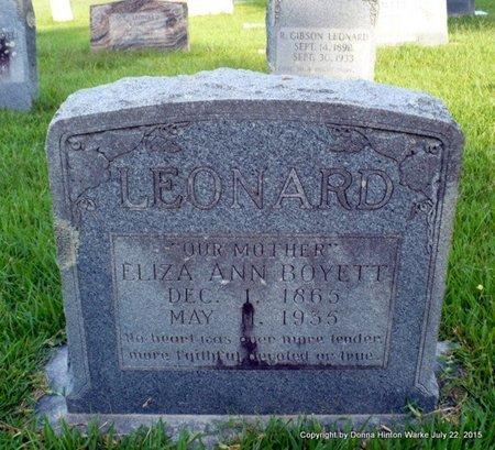 LEONARD, ELIZA JANE - Webster County, Louisiana | ELIZA JANE LEONARD - Louisiana Gravestone Photos