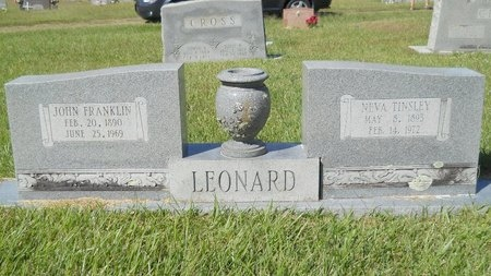 LEONARD, JOHN FRANKLIN - Webster County, Louisiana   JOHN FRANKLIN LEONARD - Louisiana Gravestone Photos