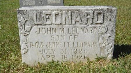 LEONARD, JOHN M - Webster County, Louisiana | JOHN M LEONARD - Louisiana Gravestone Photos