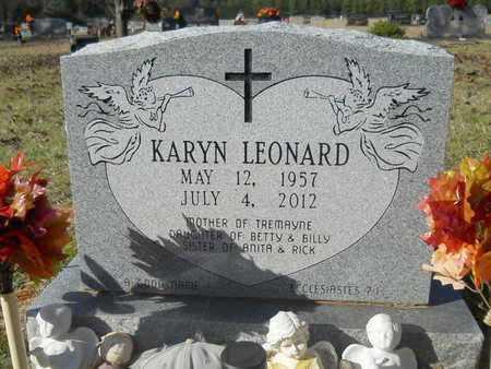 LEONARD, KARYN - Webster County, Louisiana   KARYN LEONARD - Louisiana Gravestone Photos