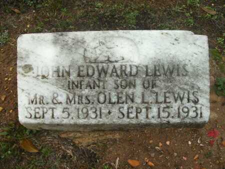 LEWIS, JOHN EDWARD - Webster County, Louisiana | JOHN EDWARD LEWIS - Louisiana Gravestone Photos