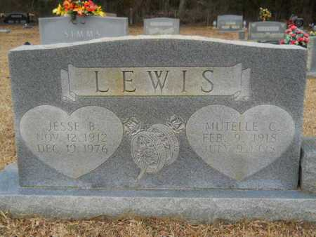 LEWIS, MUTELLE - Webster County, Louisiana | MUTELLE LEWIS - Louisiana Gravestone Photos