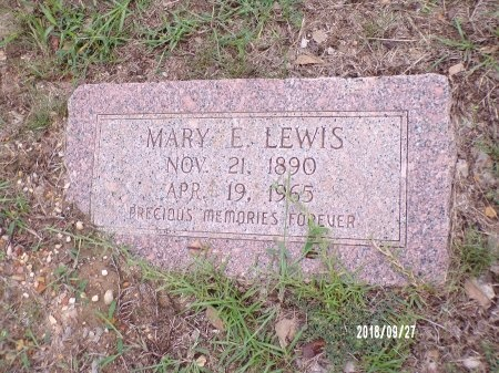 LEWIS, MARY E - Webster County, Louisiana   MARY E LEWIS - Louisiana Gravestone Photos