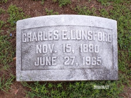 LUNSFORD, CHARLES EDGAR - Webster County, Louisiana   CHARLES EDGAR LUNSFORD - Louisiana Gravestone Photos