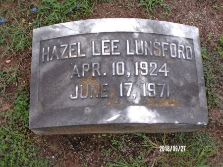 LUNSFORD, HAZEL - Webster County, Louisiana | HAZEL LUNSFORD - Louisiana Gravestone Photos