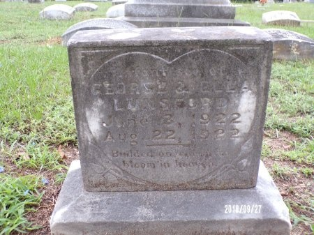LUNSFORD, INFANT SON - Webster County, Louisiana   INFANT SON LUNSFORD - Louisiana Gravestone Photos