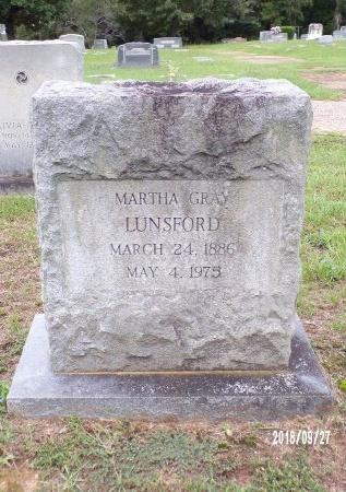 LUNSFORD, MARTHA - Webster County, Louisiana   MARTHA LUNSFORD - Louisiana Gravestone Photos