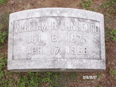 LUNSFORD, WILLIAM ROBERT - Webster County, Louisiana | WILLIAM ROBERT LUNSFORD - Louisiana Gravestone Photos