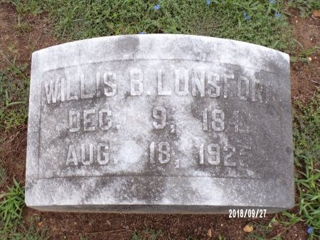 LUNSFORD, WILLIS BARRINGTON - Webster County, Louisiana | WILLIS BARRINGTON LUNSFORD - Louisiana Gravestone Photos
