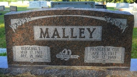 COX MALLEY, FRANCES M - Webster County, Louisiana | FRANCES M COX MALLEY - Louisiana Gravestone Photos