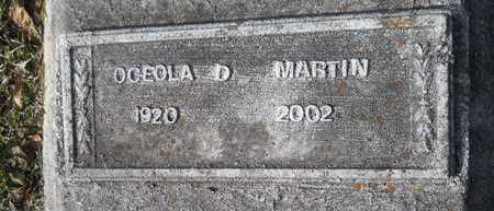 MARTIN, OCEOLA D - Webster County, Louisiana | OCEOLA D MARTIN - Louisiana Gravestone Photos