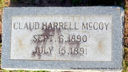 MCCOY, CLAUD HARRELL - Webster County, Louisiana | CLAUD HARRELL MCCOY - Louisiana Gravestone Photos