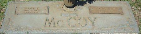 MCCOY, MACK B - Webster County, Louisiana | MACK B MCCOY - Louisiana Gravestone Photos