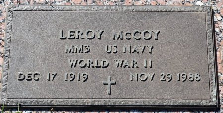 MCCOY  , LEROY (VETERAN WWII) - Webster County, Louisiana   LEROY (VETERAN WWII) MCCOY   - Louisiana Gravestone Photos
