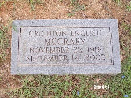 MCCRARY, CRICHTON ENGLISH - Webster County, Louisiana   CRICHTON ENGLISH MCCRARY - Louisiana Gravestone Photos