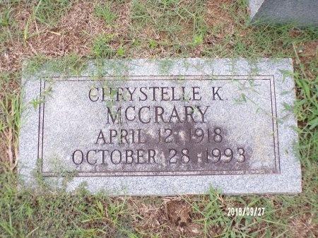 MCCRARY, CHRYSTELLE K - Webster County, Louisiana | CHRYSTELLE K MCCRARY - Louisiana Gravestone Photos