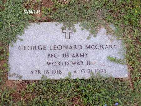 MCCRARY , GEORGE LEONARD (VETERAN WWII) - Webster County, Louisiana | GEORGE LEONARD (VETERAN WWII) MCCRARY  - Louisiana Gravestone Photos