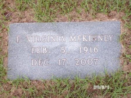 MCKINNEY, F VIRGINIA - Webster County, Louisiana | F VIRGINIA MCKINNEY - Louisiana Gravestone Photos