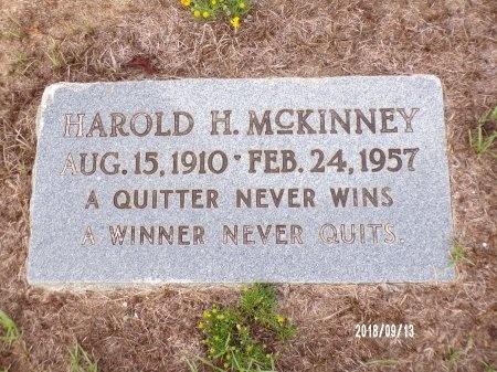 MCKINNEY, HAROLD H - Webster County, Louisiana | HAROLD H MCKINNEY - Louisiana Gravestone Photos