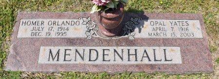 MENDENHALL, HOMER ORLANDO - Webster County, Louisiana   HOMER ORLANDO MENDENHALL - Louisiana Gravestone Photos