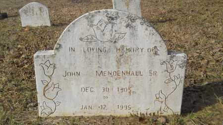 MENDENHALL, JOHN, SR - Webster County, Louisiana | JOHN, SR MENDENHALL - Louisiana Gravestone Photos
