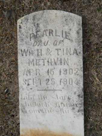 METHVIN, PEARLIE - Webster County, Louisiana | PEARLIE METHVIN - Louisiana Gravestone Photos