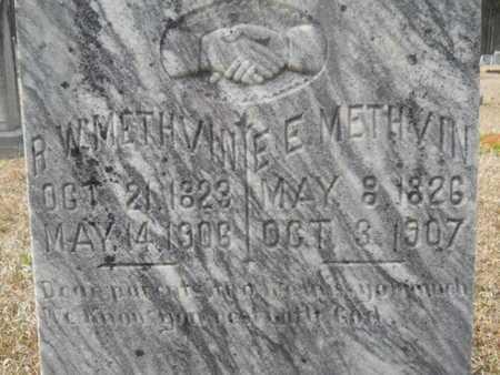 METHVIN, ELIZABETH E (CLOSE UP) - Webster County, Louisiana | ELIZABETH E (CLOSE UP) METHVIN - Louisiana Gravestone Photos
