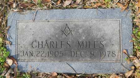 MILES, CHARLES - Webster County, Louisiana | CHARLES MILES - Louisiana Gravestone Photos