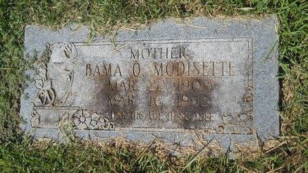 MODISETTE, BAMA O - Webster County, Louisiana | BAMA O MODISETTE - Louisiana Gravestone Photos
