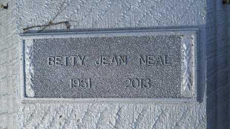 NEAL, BETTY JEAN - Webster County, Louisiana   BETTY JEAN NEAL - Louisiana Gravestone Photos