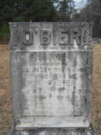 O'BIER, FANNIE - Webster County, Louisiana | FANNIE O'BIER - Louisiana Gravestone Photos