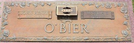 O'BIER, LOUELLA S - Webster County, Louisiana | LOUELLA S O'BIER - Louisiana Gravestone Photos
