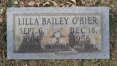 O'BIER, LILLA - Webster County, Louisiana | LILLA O'BIER - Louisiana Gravestone Photos