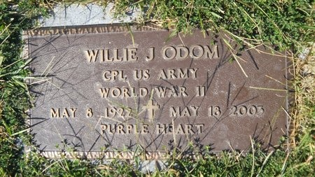 ODOM, WILLIE J (VETERAN WWII) - Webster County, Louisiana | WILLIE J (VETERAN WWII) ODOM - Louisiana Gravestone Photos