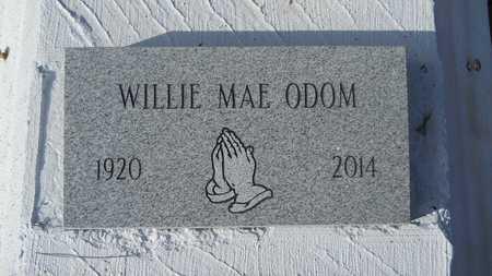 ODOM, WILLIE MAE - Webster County, Louisiana | WILLIE MAE ODOM - Louisiana Gravestone Photos