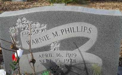 PHILLIPS, WARNIE M - Webster County, Louisiana | WARNIE M PHILLIPS - Louisiana Gravestone Photos