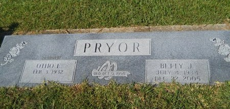 PRYOR, BETTY J - Webster County, Louisiana | BETTY J PRYOR - Louisiana Gravestone Photos