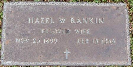 RANKIN, HAZEL W - Webster County, Louisiana | HAZEL W RANKIN - Louisiana Gravestone Photos