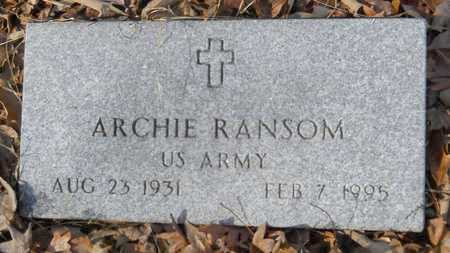 RANSOM, ARCHIE (VETERAN) - Webster County, Louisiana | ARCHIE (VETERAN) RANSOM - Louisiana Gravestone Photos
