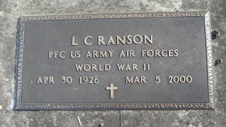 RANSON, L C (VETERAN WWII) - Webster County, Louisiana | L C (VETERAN WWII) RANSON - Louisiana Gravestone Photos