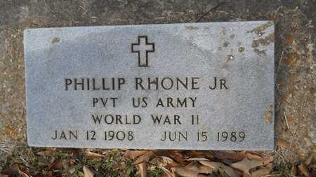 RHONE, PHILLIP, JR (VETERAN WWII) - Webster County, Louisiana   PHILLIP, JR (VETERAN WWII) RHONE - Louisiana Gravestone Photos
