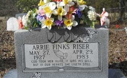 FINKS RISER, ARRIE - Webster County, Louisiana | ARRIE FINKS RISER - Louisiana Gravestone Photos